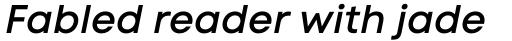Code Next Semi Bold Italic sample