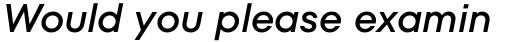 TT Fors Medium Italic sample