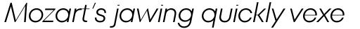 TT Fors Display Light Italic sample