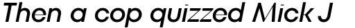 TT Fors Display Medium Italic sample