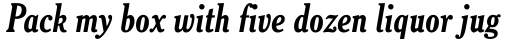 Cheltenham Std Bold Condensed Italic sample