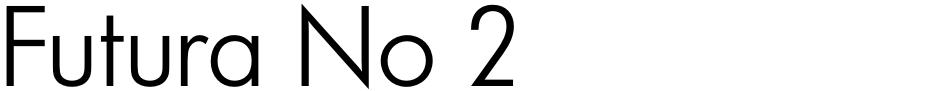 Click to view  Futura No 2 font, character set and sample text