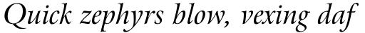 Arrus BT Std Italic sample
