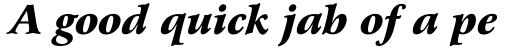 Arrus BT Std Black Italic sample