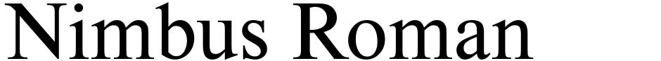 Click to view  Nimbus Roman font, character set and sample text