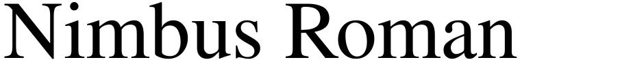 Click to view  Nimbus Roman No 9 font, character set and sample text