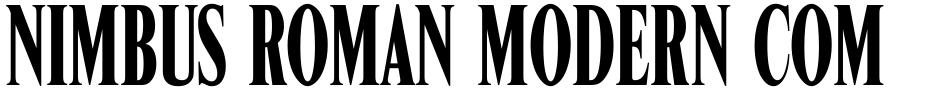 Click to view  Nimbus Roman Modern Compress font, character set and sample text