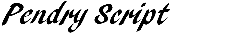 Click to view  Pendry Script font, character set and sample text