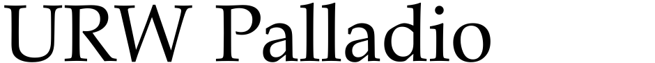 Click to view  URW Palladio font, character set and sample text