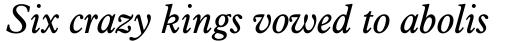 Aldine 721 Std Italic sample