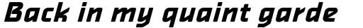 Alphaville Bold Oblique sample