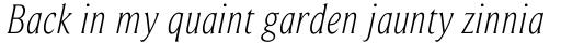 Beaufort Condensed Light Italic sample
