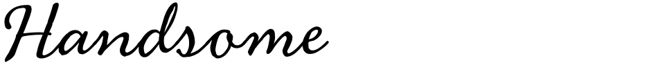 Click to view  Handsome font, character set and sample text