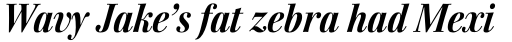 Walburn Bold Italic sample