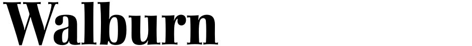 Click to view  Walburn font, character set and sample text