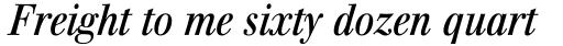 Walburn Italic sample