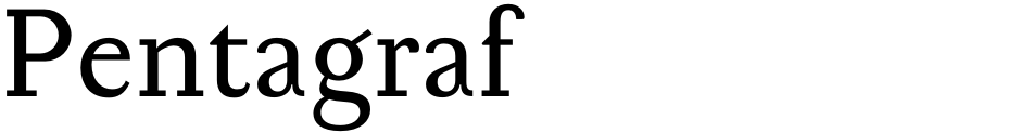 Click to view  Pentagraf font, character set and sample text