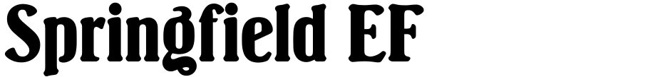 Click to view  Springfield EF font, character set and sample text