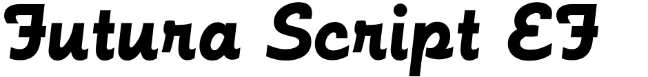 Click to view  Futura Script EF font, character set and sample text