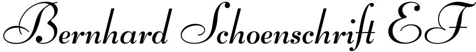 Click to view  Bernhard Schoenschrift EF font, character set and sample text