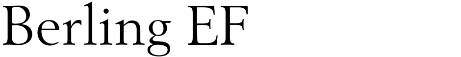 Click to view  Berling EF font, character set and sample text