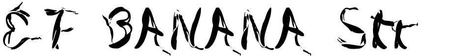 Click to view  EF BANANA Strip font, character set and sample text