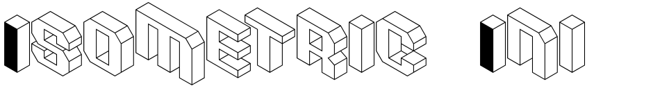 Click to view  Isometric Initial Caps font, character set and sample text