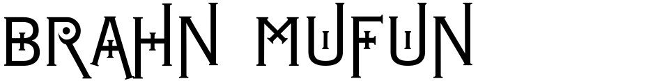 Click to view  Brahn Mufun font, character set and sample text