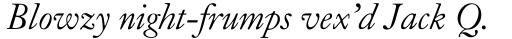 Caslon Old Face Std Italic sample