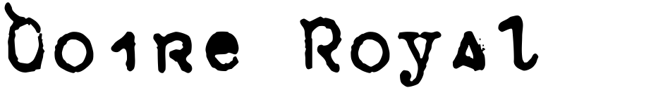 Click to view  Doire Royal font, character set and sample text