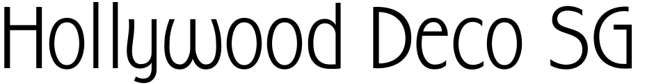 Click to view  Hollywood Deco SG font, character set and sample text