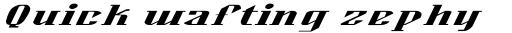 Alexander Std Bold Oblique sample