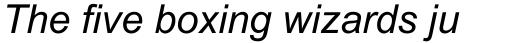 Arial MT Italic sample