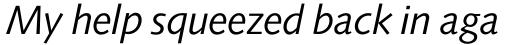 Symphony Italic sample