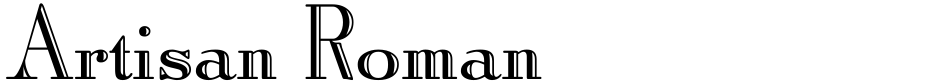 Click to view  Artisan Roman font, character set and sample text