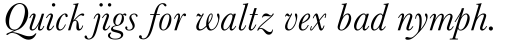 Baskerville MT Italic sample