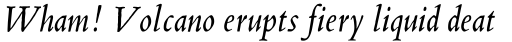 Blado MT Italic Old Style Figures sample