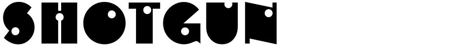 Click to view  Shotgun font, character set and sample text