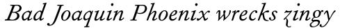 Fournier Italic sample