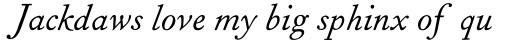Fournier Italic Tall Capitals sample