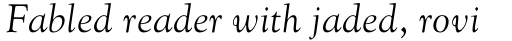 Goudy Old Style MT Italic sample