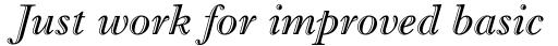Imprint MT Shadow Italic sample