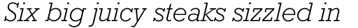 Rockwell Light Italic sample