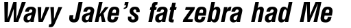 Triumvirate Condensed Bold Italic sample