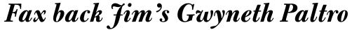 Bulmer MT Bold Italic sample