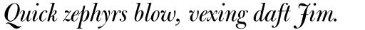 Bulmer MT Display Italic sample