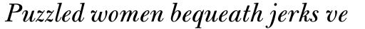 Bulmer MT Italic sample