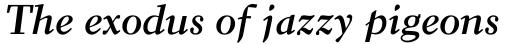 Elante Bold Cursiv sample