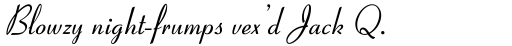 Coronet Italic sample