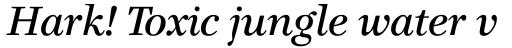 Claridge Italic sample